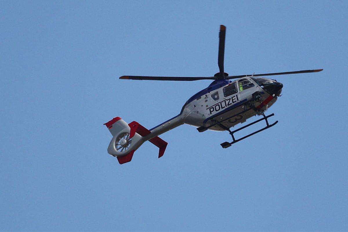 Hubschrauber über Dresden