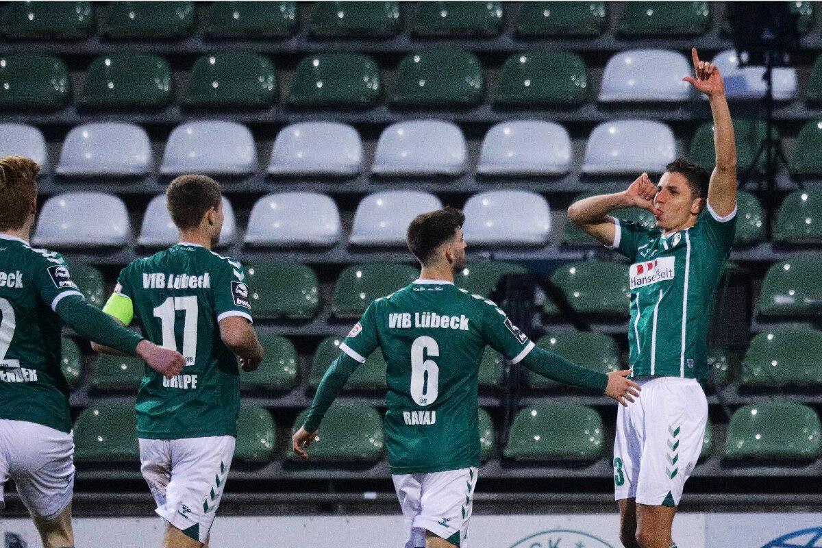Ausgerechnet Ex-Dynamo Soufian Benyamina köpft VfB Lübeck gegen Rostock zum Sieg! - TAG24