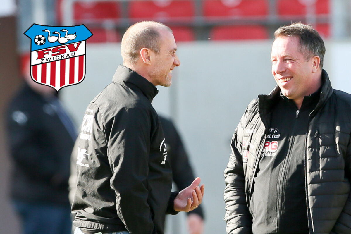 FSV-Coach Enochs gratuliert Dynamo-Trainer Kauczinski zum Derbysieg: