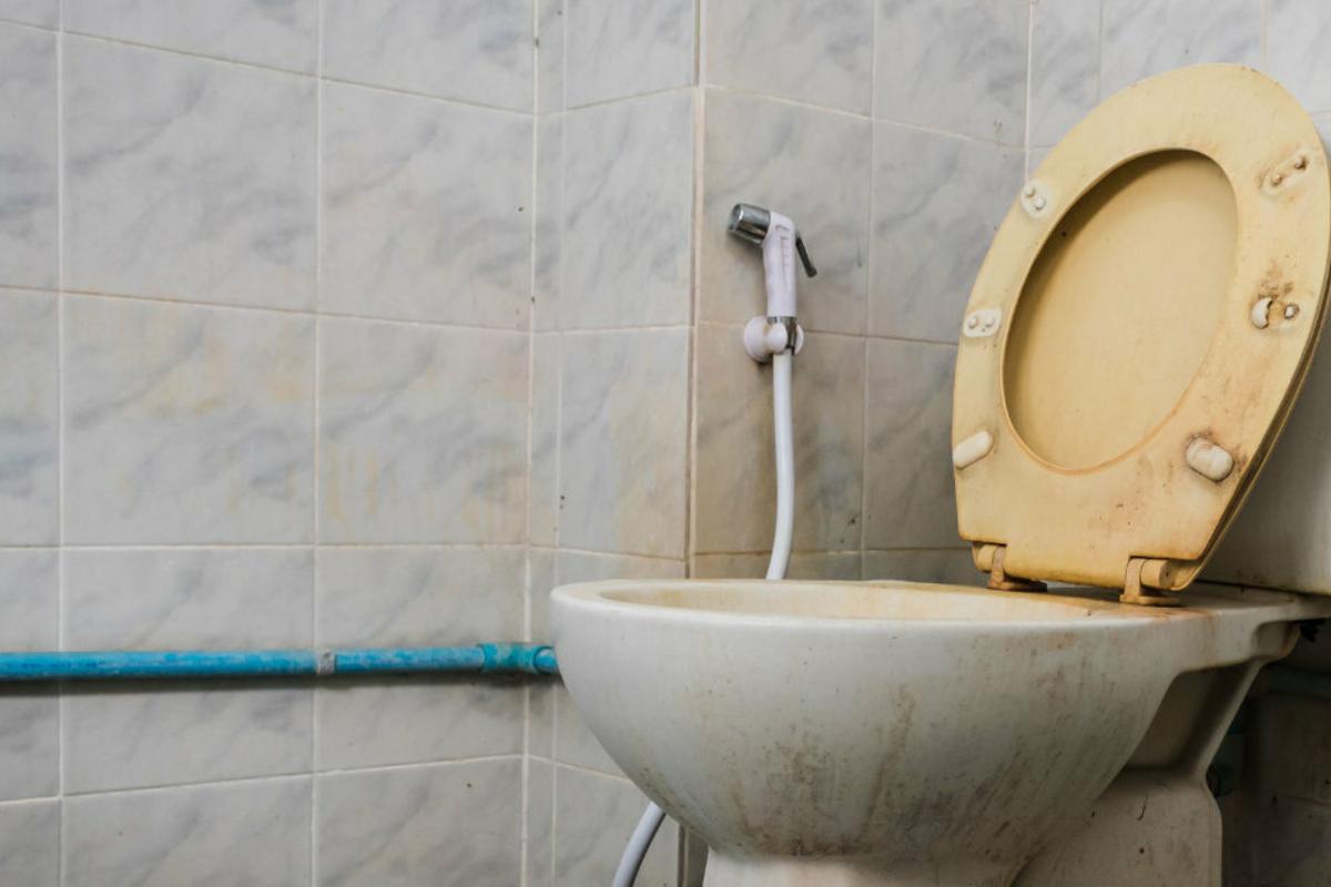 Pinkelt waschbecken frau in Neulich, am