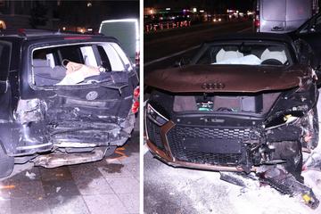 Horror-Crash mit vier Verletzten nach Raserei in Neukölln