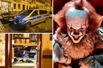 Leipzig: Horrorclown überfällt Späti! Kassierer mit Messer verletzt