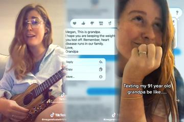 Single-Frau teilt unverblümte Nachrichten von ihrem Opa und geht viral