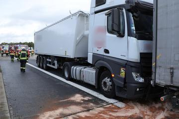 Atasco en la A4 después de un accidente: ¡dos camiones se estrellaron y un hombre resultó gravemente herido!