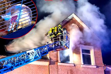 Mehrfamilienhaus nach Brand unbewohnbar: Feuerwehr rettet Hasen eines kleinen Jungen