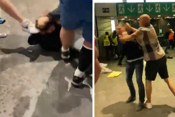 Brutale Szenen im Wembley-Stadion: Mann wird mehrfach getreten, 19 Polizisten verletzt