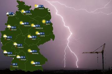 Nächste Unwetter angekündigt: Am Wochenende wieder Gewitter, Starkregen und Hagel!
