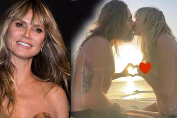 Heidi Klum: Intime Einblicke: Heidi Klum knutscht oben ohne mit Ehemann Tom am Strand