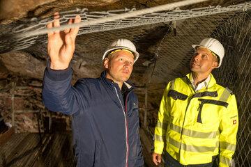 Nach Felssturz im Besucherbergwerk: In Miltitz wird unter Tage gebaut