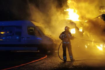 Brandserie im Leipziger Norden geht weiter: Wohnmobil vollständig zerstört