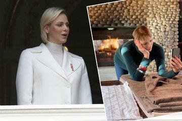 La princesa Charlene lleva meses atrapada en Sudáfrica: ahora está cosiendo mantas