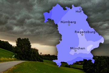 Es wird wieder ungemütlich! Hagel und Starkregen in Bayern erwartet