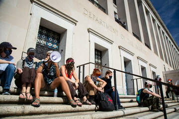 Indigenous leaders and allies occupy Bureau of Indian Affairs for first time in decades