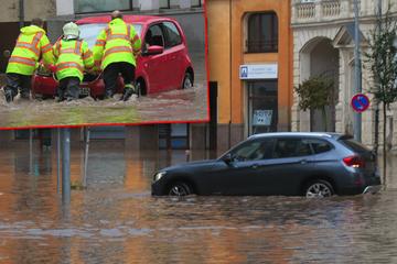 Heftige Regenfälle in Sachsen: Bäume entwurzelt, Straßen unter Wasser!