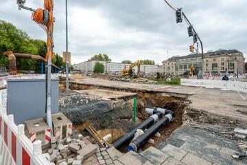 Baustellen Chemnitz: Verseuchtes Erdreich bei Bauarbeiten im Chemnitzer Zentrum entdeckt