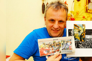 MotoGP-Superstar Rossi bringt Autogrammjäger aus dem Erzgebirge groß raus