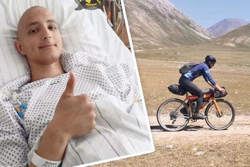 Nach Krebsdiagnose und Überfall: Sächsischer Radler erfüllt sich Traum