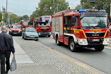 Dresden: Feuerwehreinsatz am Albertplatz: Simmel-Gebäude geräumt!