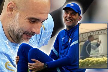 Vor Champions-League-Finale: Hier äfft Tuchel Guardiola nach und amüsiert sein Trainerteam