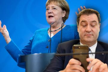 """""""Persönliche SMS"""": Merkel stand Söder in schweren Stunden zur Seite"""
