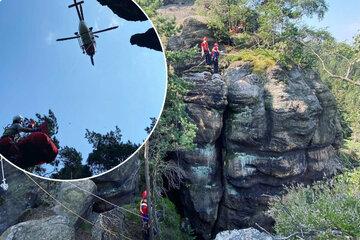 Grusel-Fund im Zittauer Gebirge: Kletterer stoßen auf Skelett!