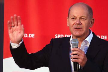 Endspurt im Wahlkampf: Scholz stellt sich Bürgerfragen in Potsdam