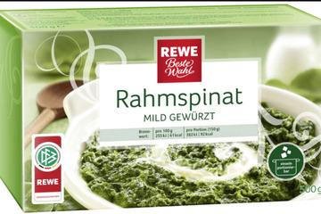 Achtung, Rückruf von Rewe-Rahmspinat!