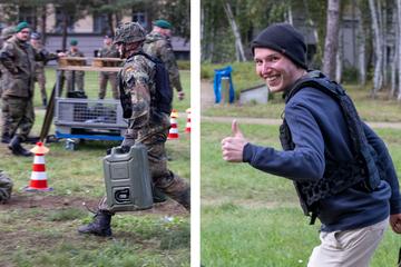 Wenn Offiziere Sandsäcke ziehen: In Dresden werden künftige Armee-Chefs fit für den Einsatz gemacht