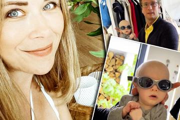 Urlaub für Tanja Szewczenko: Was trägt Baby Luis da auf der Nase?