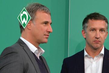 Marco Bode und Frank Baumann: Einer bleibt beim SV Werder, einer geht
