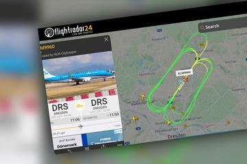 Dresden: Flugzeug zieht über Dresden seine Kreise: Airport klärt auf!