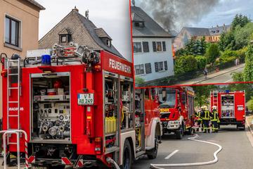 Feuerwehreinsatz in Limbach: Kinderspielhaus in Flammen