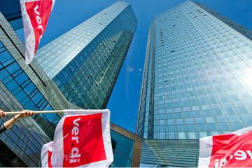Verdi kündigt für Freitag Warnstreiks in Hessens Banken an