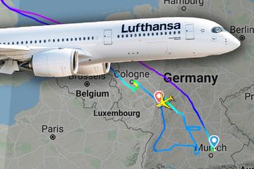 Lufthansa-Maschine braucht sieben Stunden für Flug von München nach Frankfurt