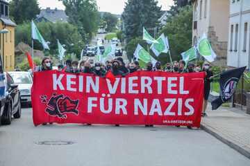 Antifa-Demo in Zwönitz: Wieder Angriffe auf Polizisten