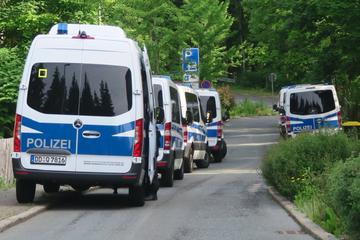 Großes Polizeiaufgebot in Aue: Was war da los?