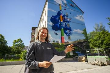Chemnitz: Alles schön bunt hier! Neue Fassaden-Kunst für Chemnitz
