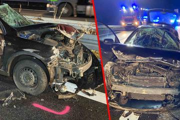 Unfall A4: Geisterfahrer-Horror auf der A4: Zwei Unfälle, Hubschrauber-Einsatz, Vollsperrung!