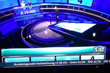 Peinlich-Panne in Quizshow: ARD zeigt Laufband mit Wahl-Hochrechnung