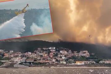 Urlaubs-Paradies Sardinien in der Feuer-Hölle: Verheerende Brände wüten im Westen der Insel