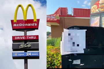 Mann ist baff, als er diesen Zettel am McDonald's-Drive-in sieht und landet viralen Hit