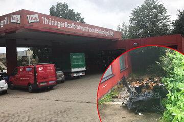 Chemnitz: Feuer an der Burgertanke in Chemnitz! Zündelei geht weiter