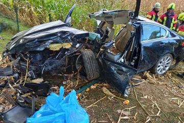 Tragischer Unfall: Fahranfänger kracht mit vollbesetztem Jaguar gegen Baum