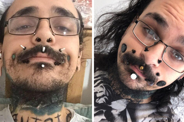 """I feel more like myself "": Man breaks world record for face flesh tunnels body modification"