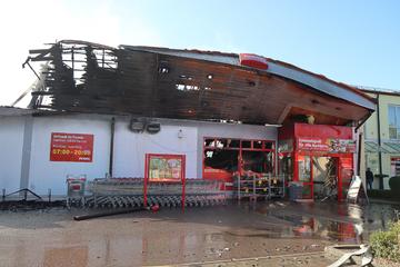Penny-Markt in Allershausen abgefackelt: Schaden in Millionenhöhe