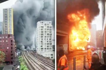 Explosión e incendio en la estación de tren de Londres