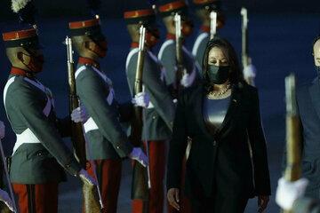 Vice President Kamala Harris lands in Guatemala following plane issue