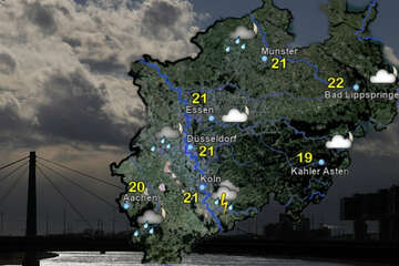 Unwetterwarnung! Samstagnacht bahnen sich in NRW Gewitter und Starkregen an