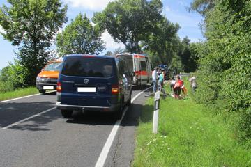 Lebloser Radfahrer wird am Straßenrand erfolgreich reanimiert!