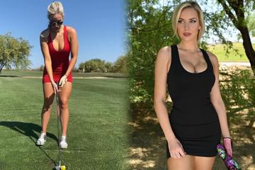 """Sexy Golferin macht Fans klare Ansage: """"Beschwert Euch nie wieder über mein Dekolleté"""""""